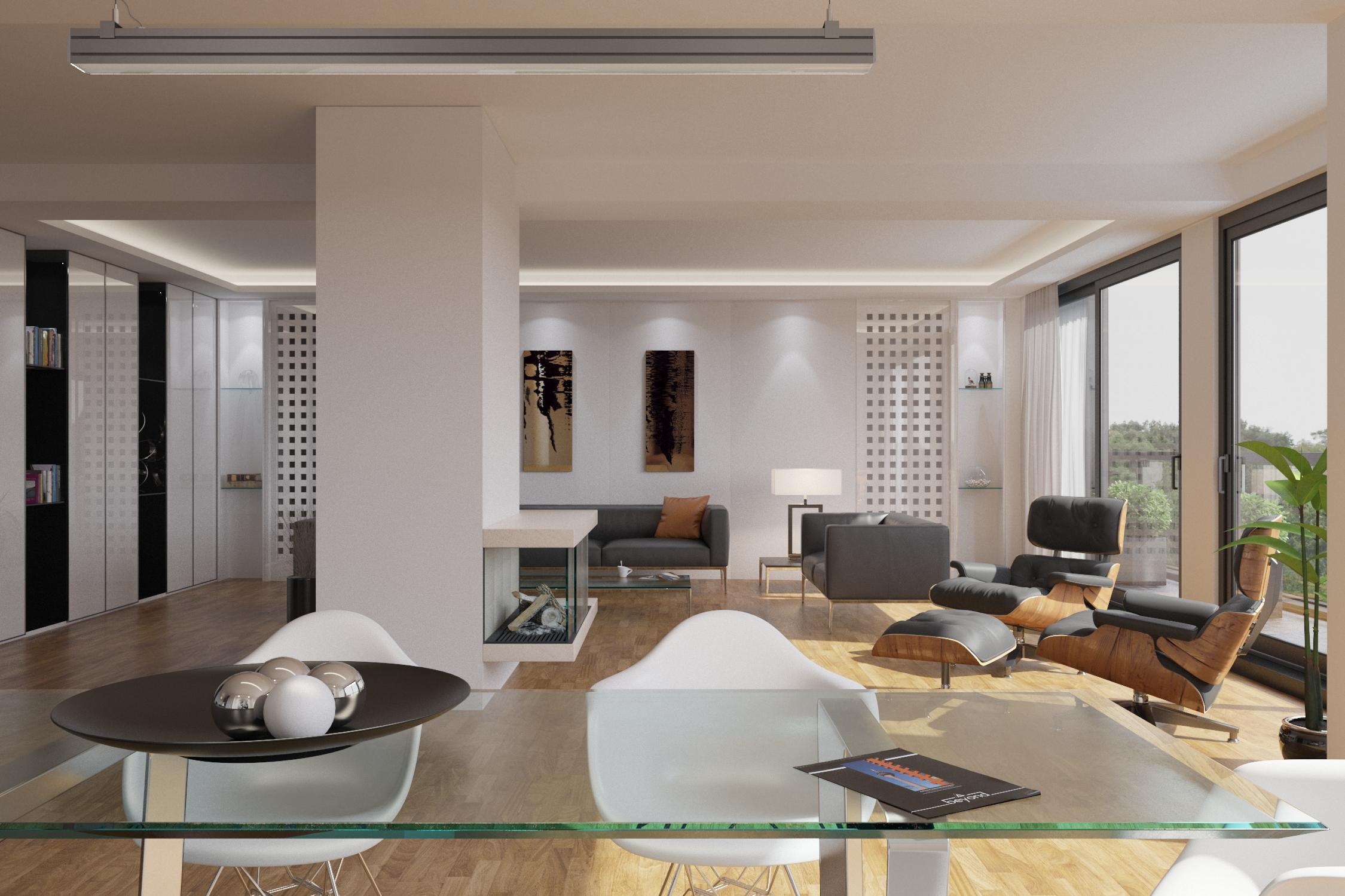 Wohnraumvisualisierung Penthouse in Düsseldorf