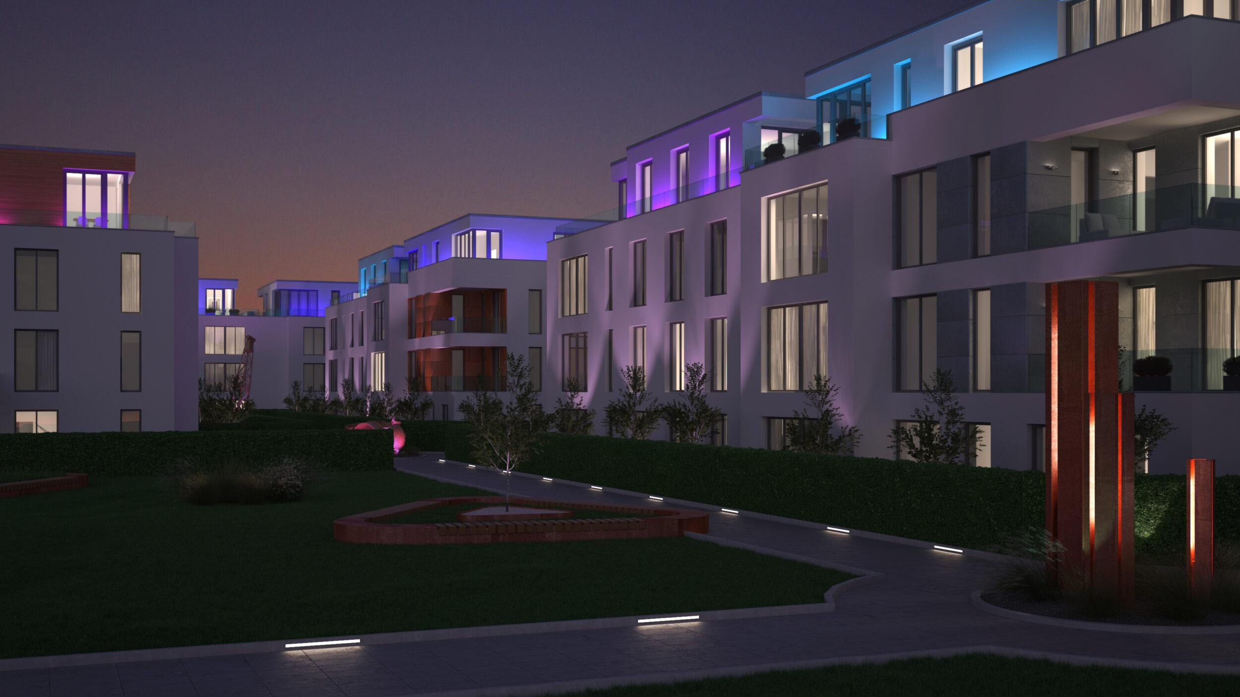 modernes Wohnquartier