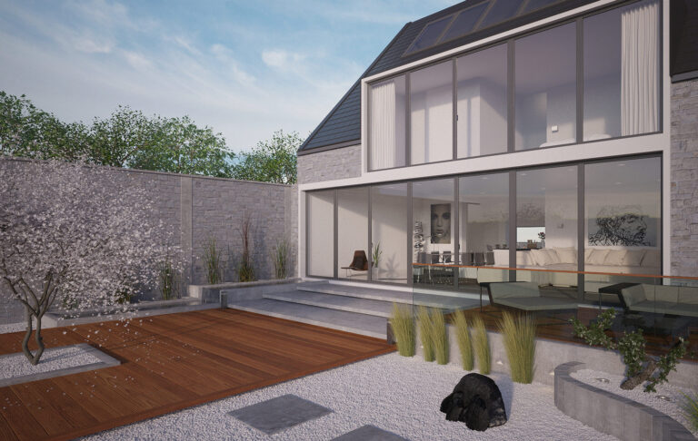 einfamilienhaus architekturvisualisierung