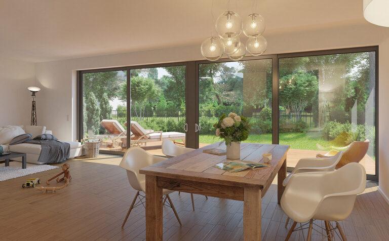 Neubau Einfamilienhaus Visualisierungen