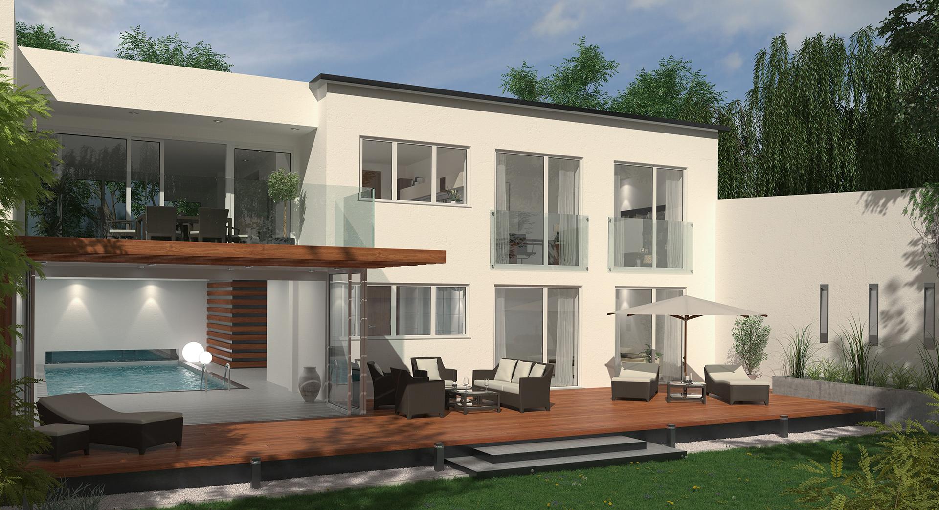 3D Visualisierung Villa in Düsseldorf