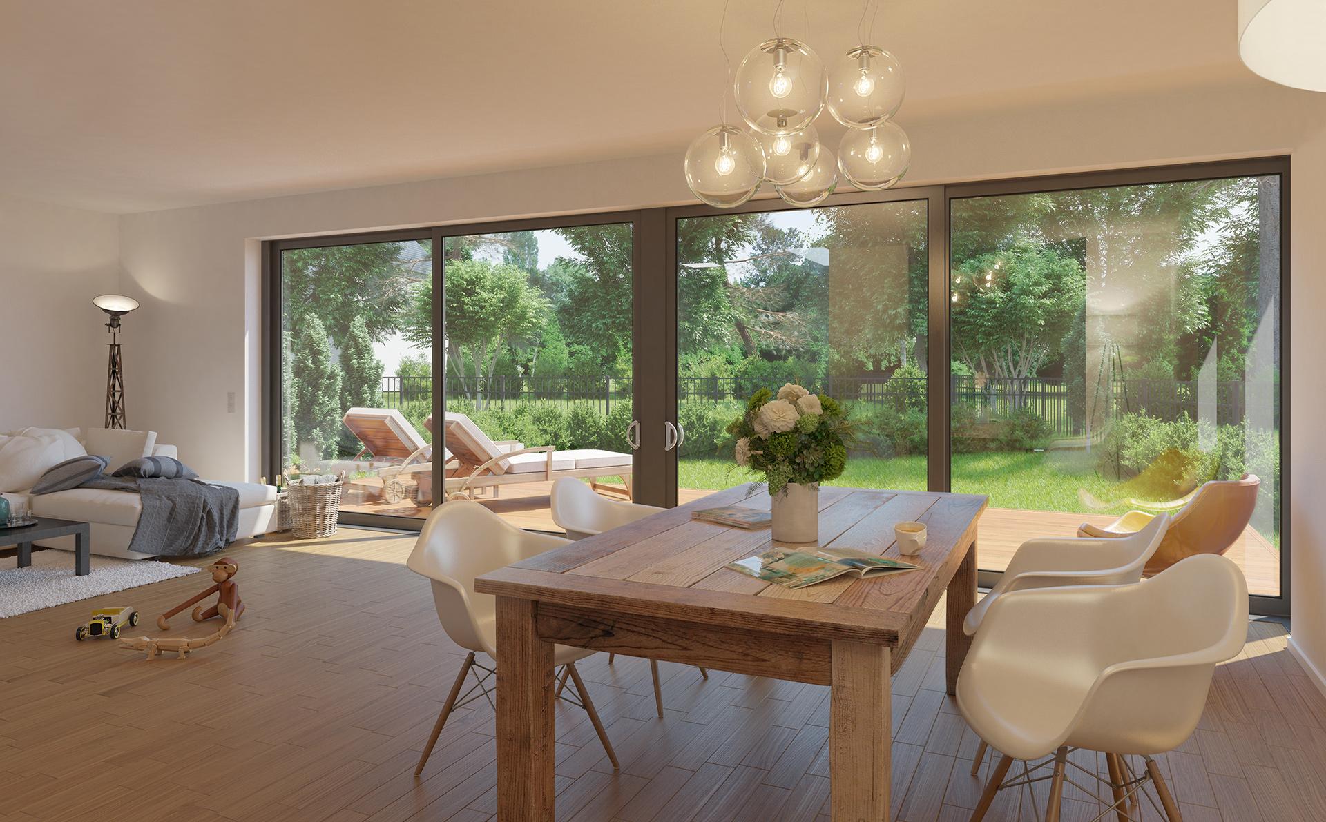 Wohnzimmer 3D-Visualisierung