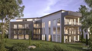 Architekturvisualisierung Mehrfamilienhaus