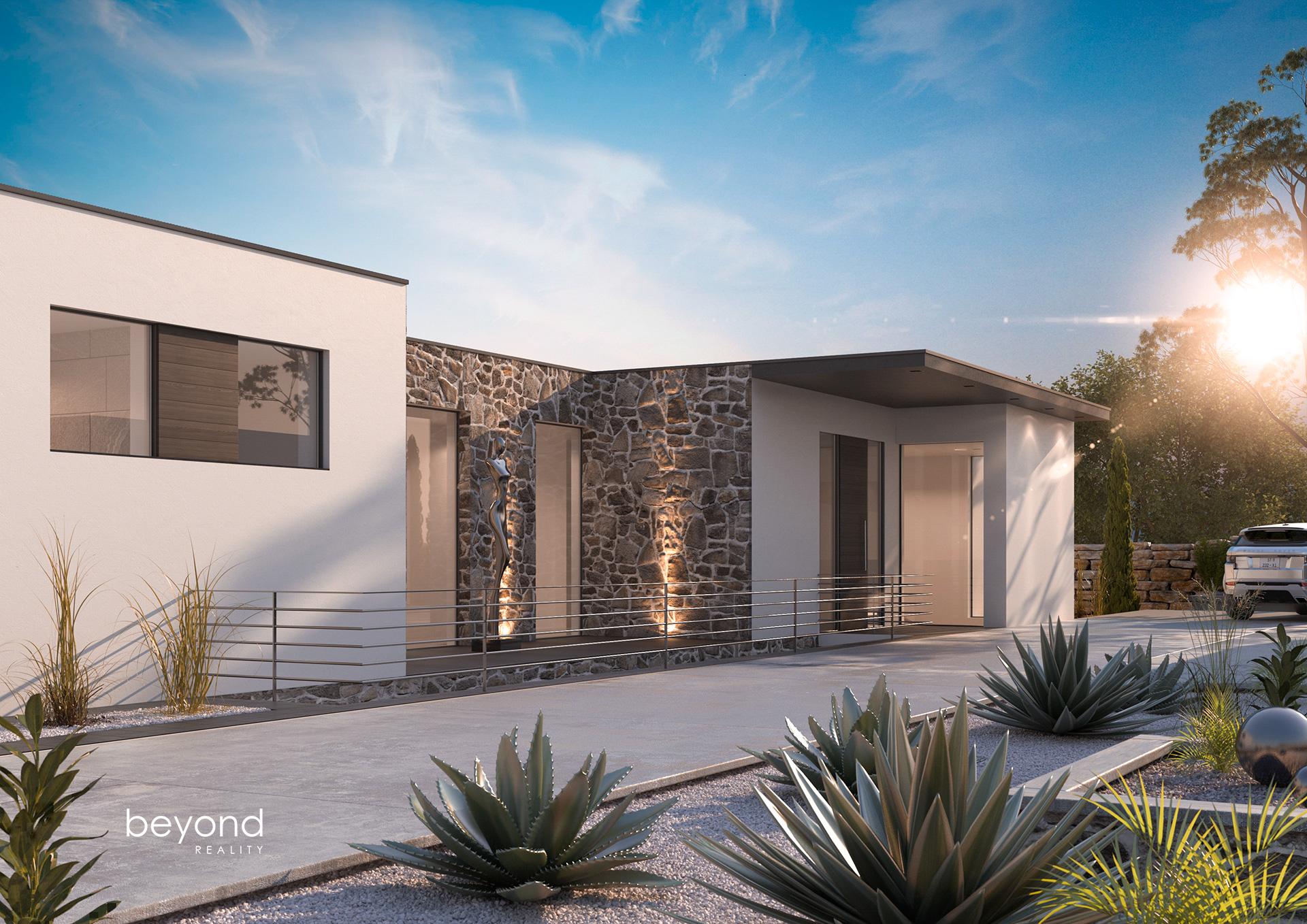 Architekturvisualisierung Villa