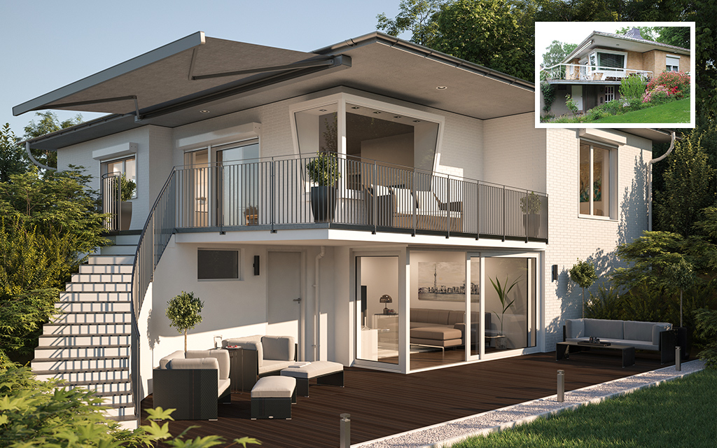 3D Umplanung von Einfamilienhaus