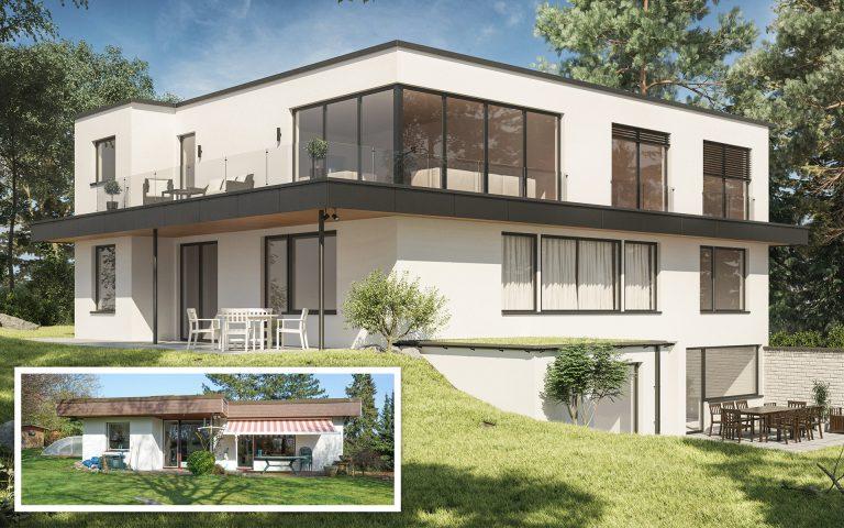 Aufstockung Einfamilienhaus Visualisierung