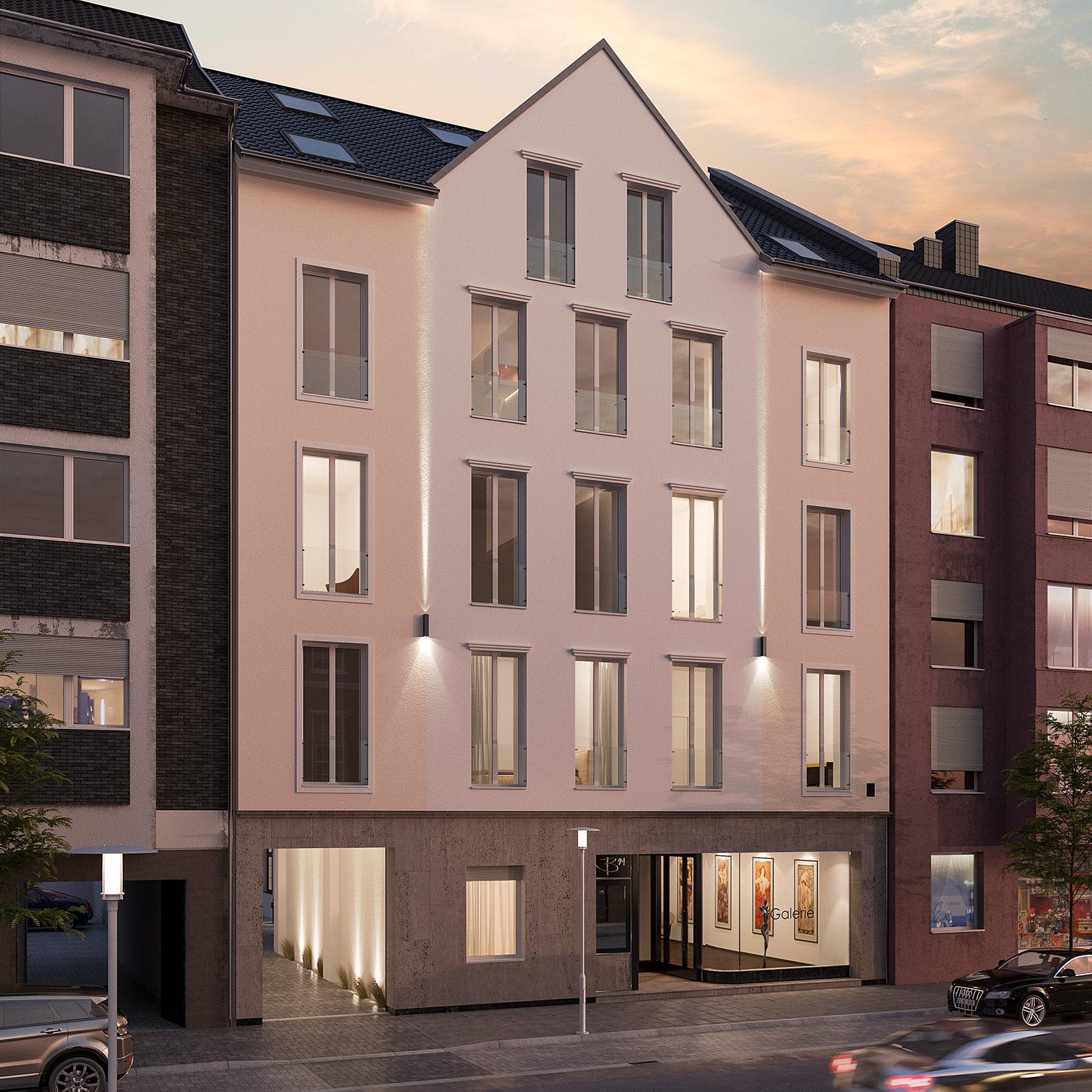 Mehrfamilienhaus Düsseldorf Visualisierungen