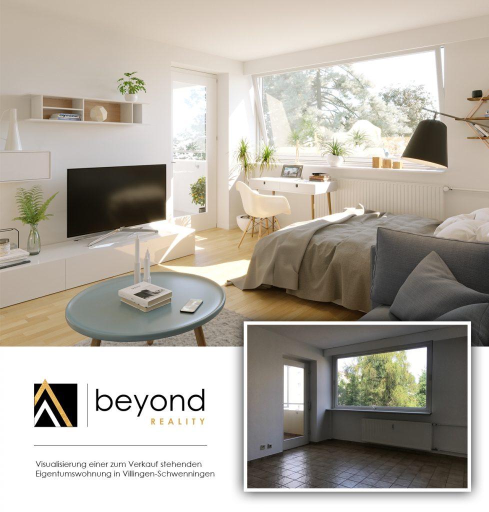 Virtuelles Home Staging einer Wohnung