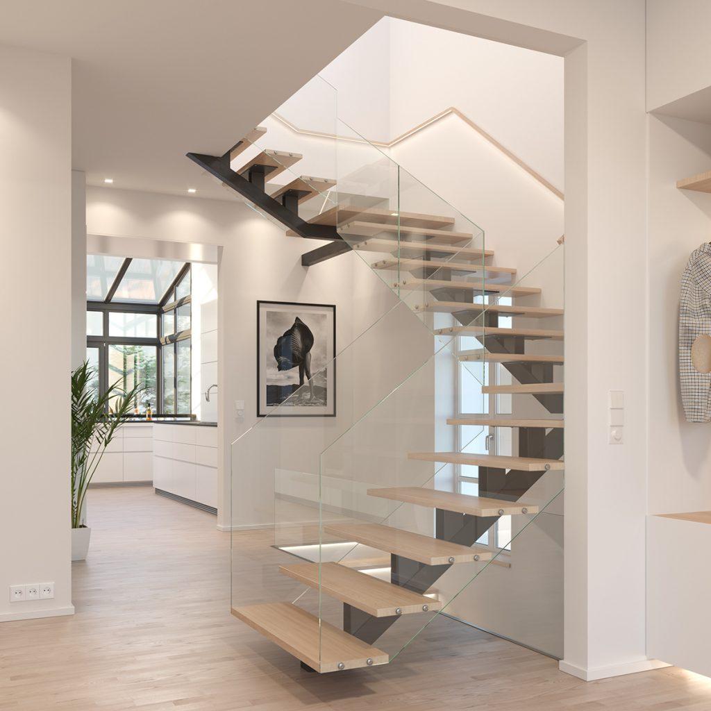Visualisierung Treppenhaus