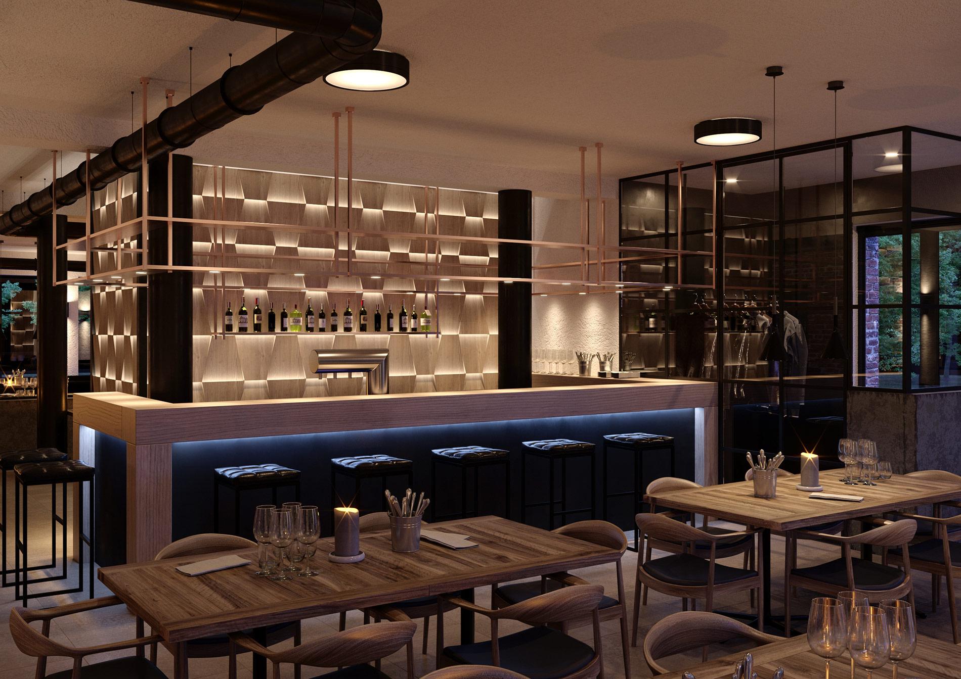 Restaurant 3D Visualisierung