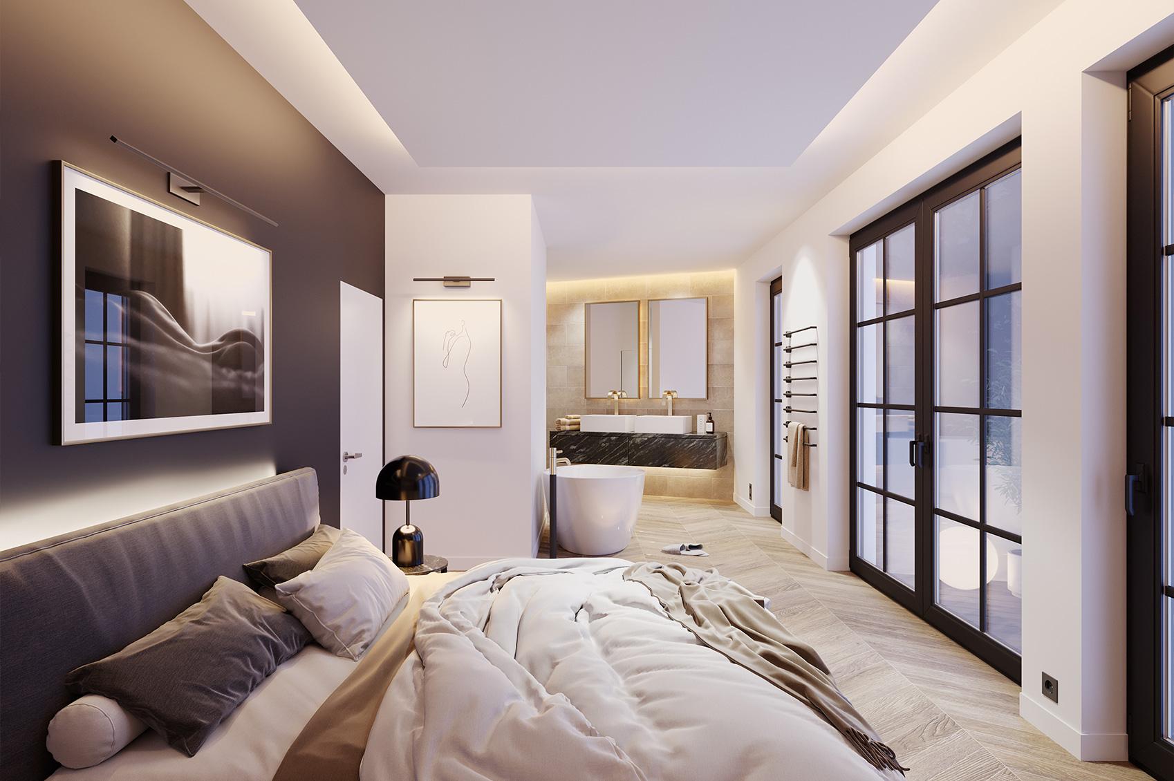 3D Visualisierung Loft Schlafzimmer
