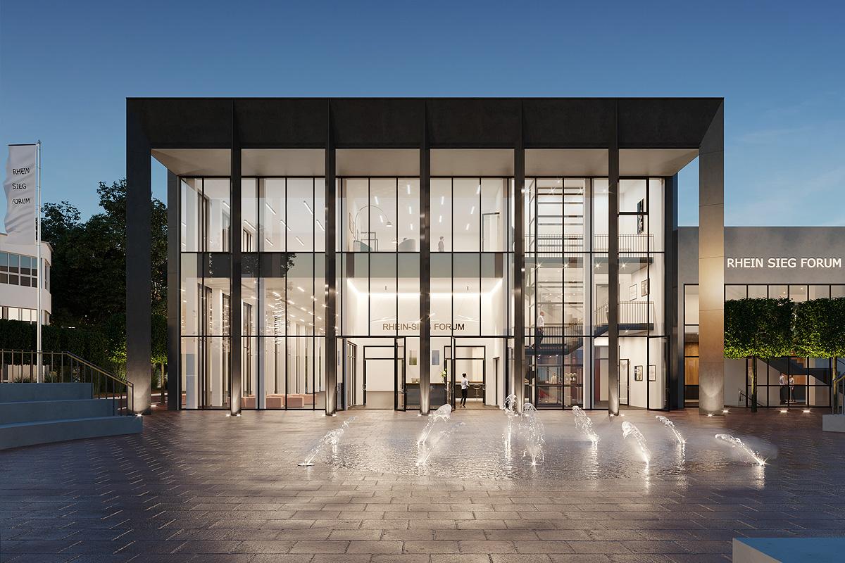 Architekturvisualisierung Veranstaltungshalle