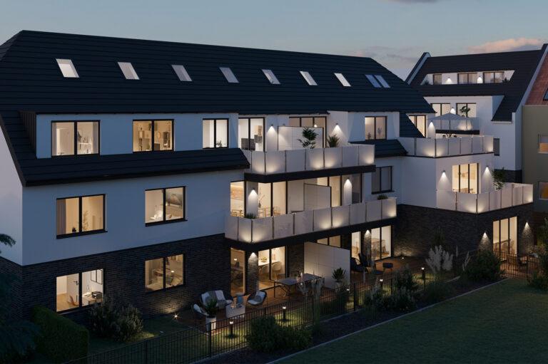 Aussenvisualisierung Mehrfamilienhaus Köln