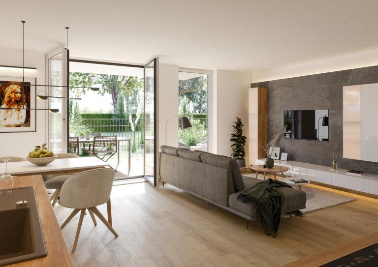 Innenvisualisierung Wohnzimmer