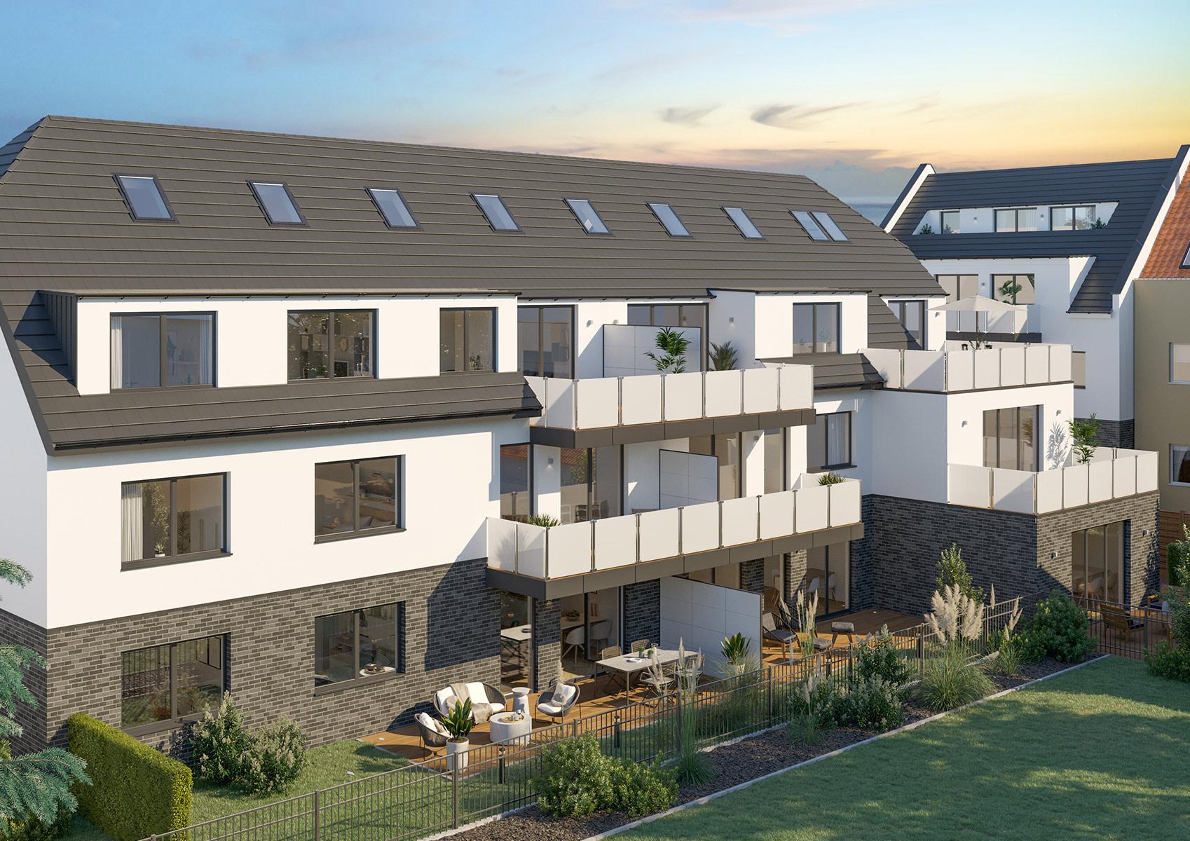 Mehrfamilienhaus Köln Architekturvisualisierung