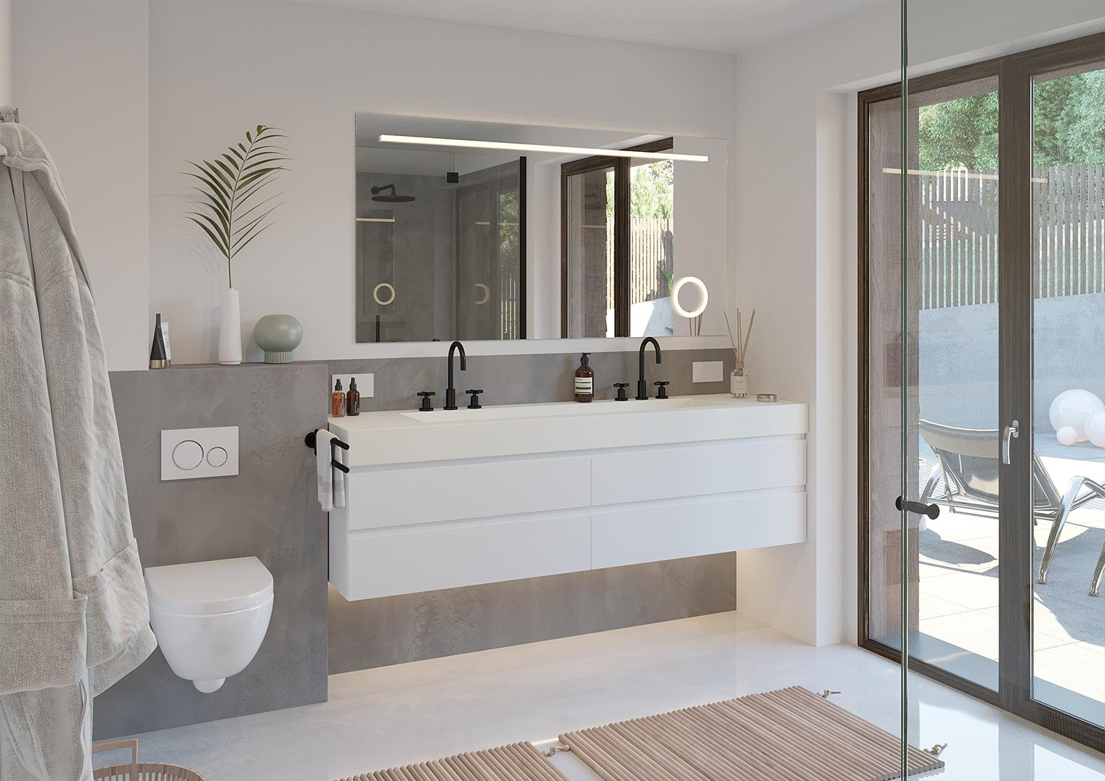 Architektur Visualisierung Badezimmer