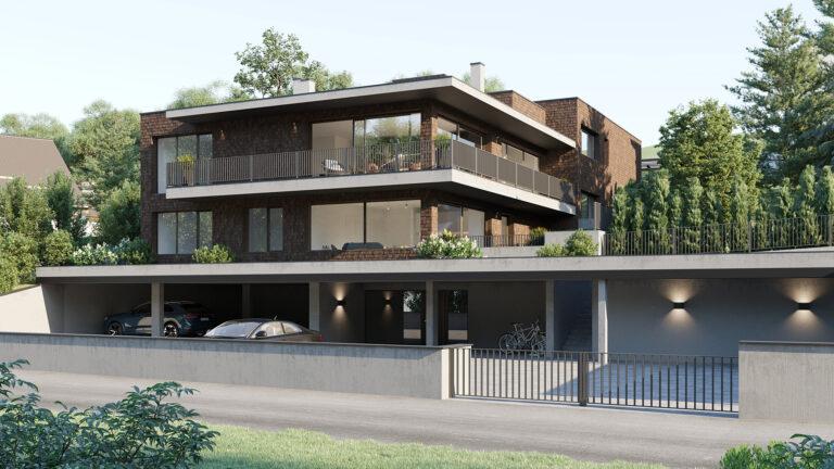 Architektur Visualisierung Mehrfamilienhaus