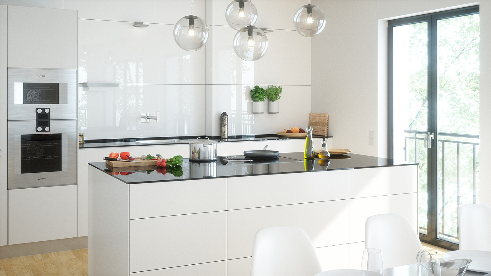 Innenvisualisierung Küche