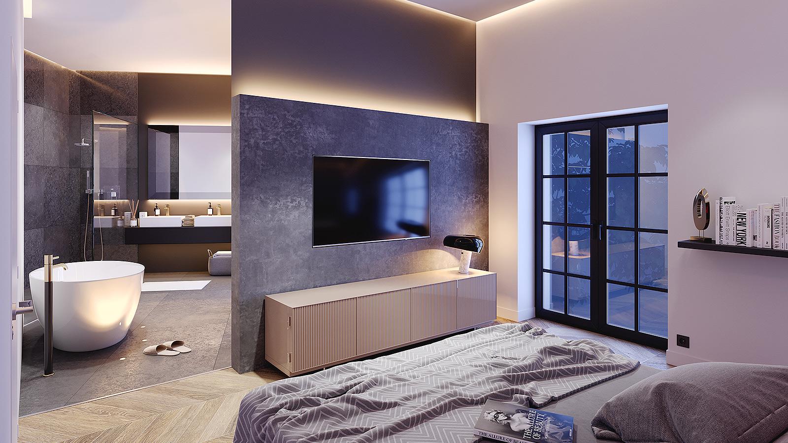 Architekturvisualisierung Schlafzimmer