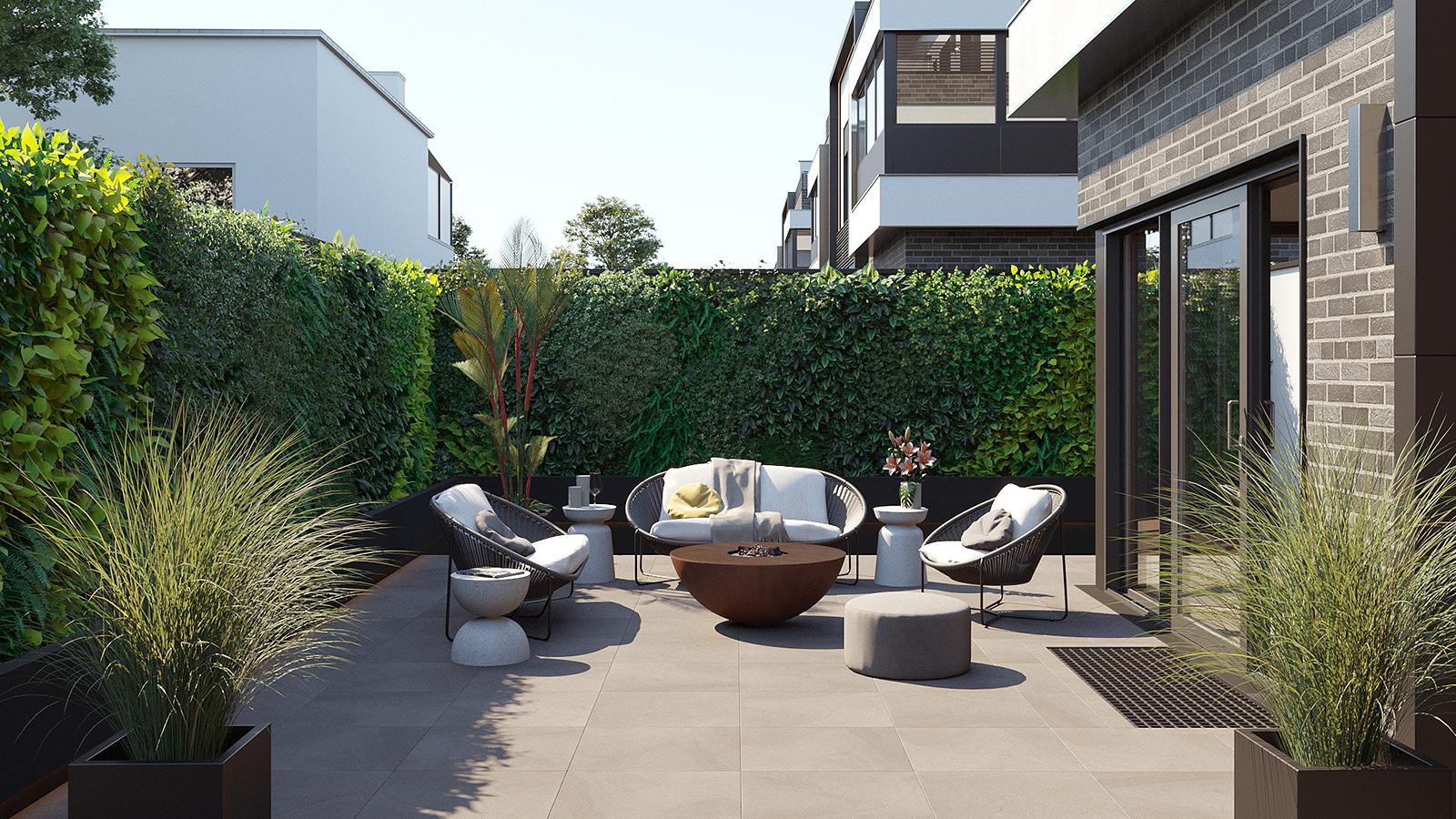 Architekturvisualisierung Terrasse