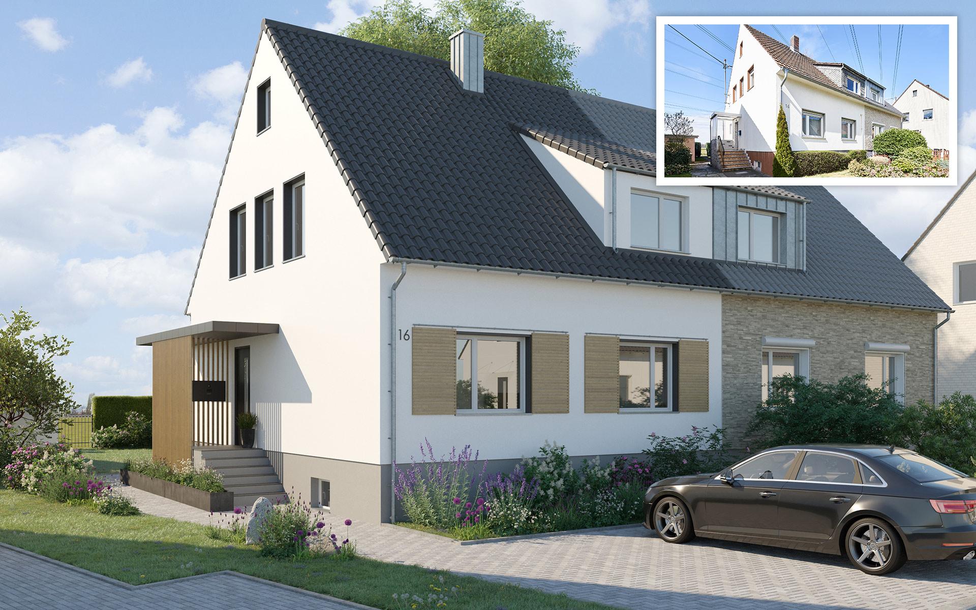 Neugestaltung Einfamilienhaus