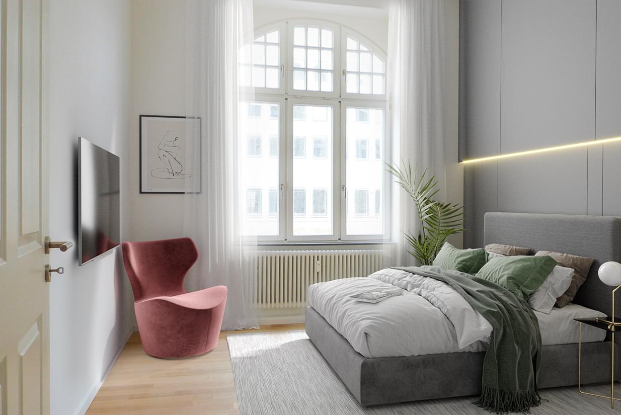 3D Homestaging Schlafzimmer