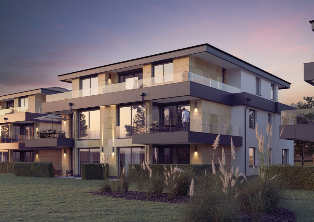 3D Visualisierung Neubau Mehrfamilienhaus