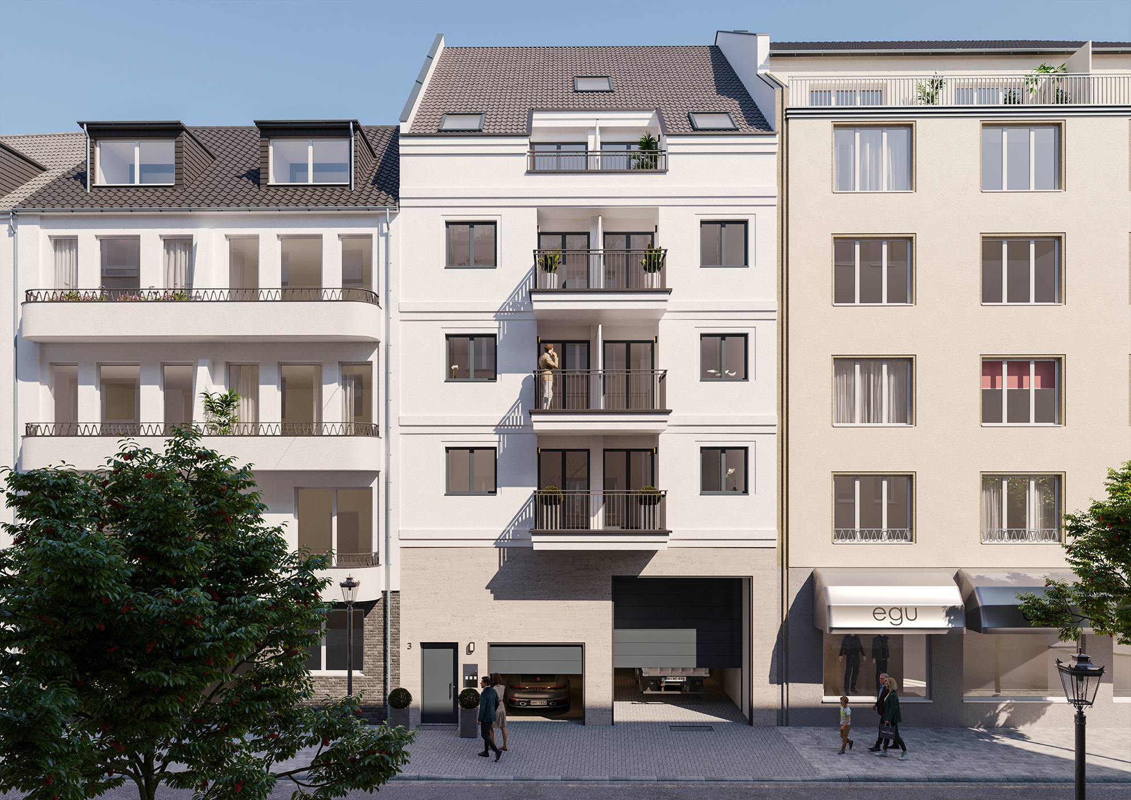Neubau 3D Visualisierung Düsseldorf