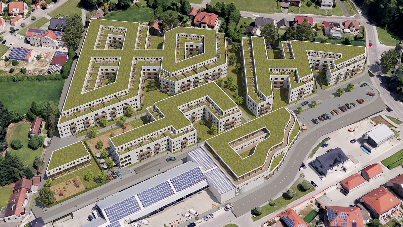 3D Visualisierung Quartiersentwicklung